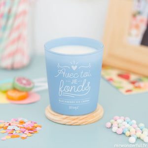 Bougie avec toi, je fonds, de la marque Mr Wonderful, vendue sur The Happy Factory