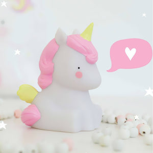 Veilleuse licorne, de la marque A little Lovely Company, vendues sur www.the-happy-factory.com