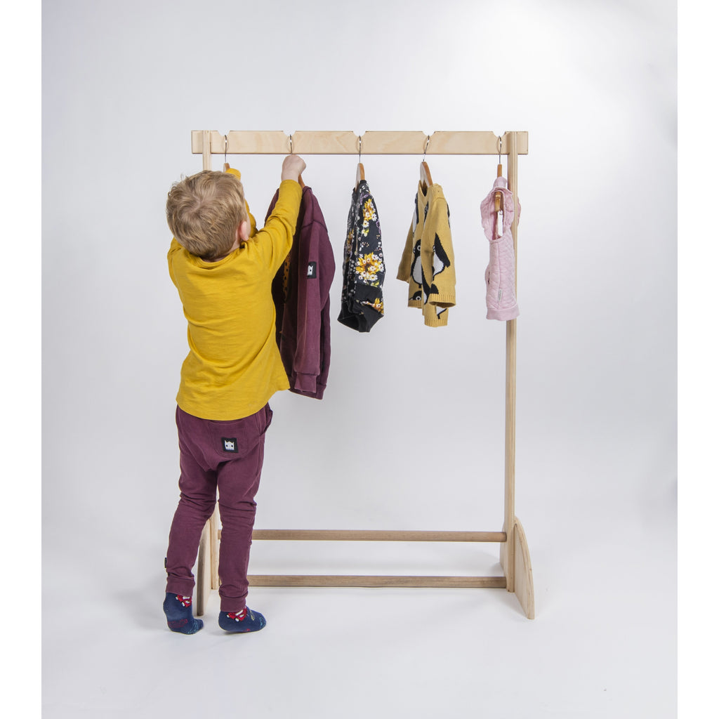 I'm Hooked on You (Montessori Children's Clothes Rack)