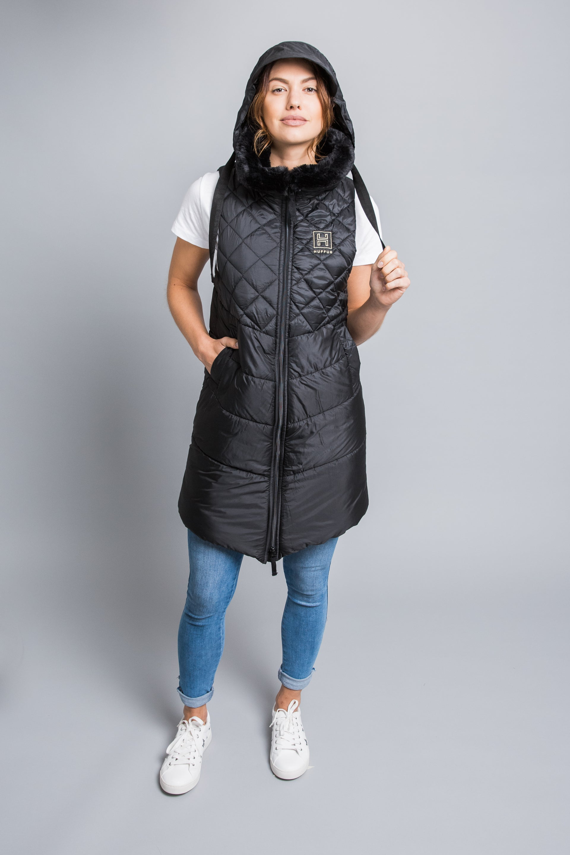 The HUFFUR Signature Black  Gilet Made in England