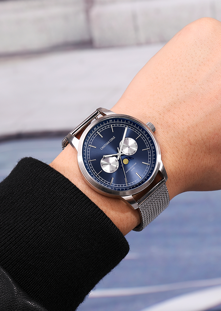 Moonphase - Blue/Silver - CRISTIAN COLE