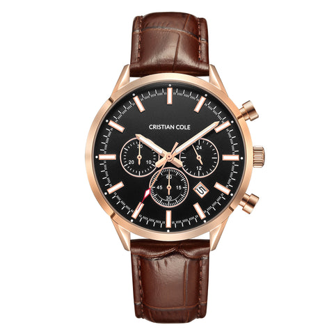 Chrono - Black/Rose Gold - Cristian Cole