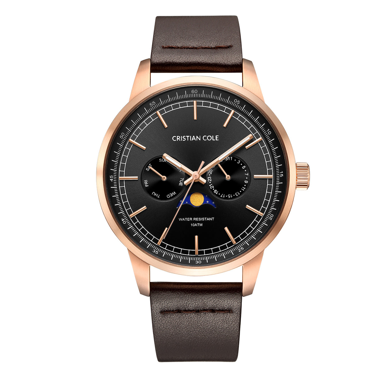 Moonphase - Black/Rose Gold - CRISTIAN COLE