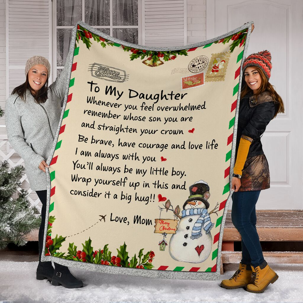 Blanket To Daughter From Mom - Gift For Christmas, Birthday - Letter Blanket - You'Ll Always My Little Girl