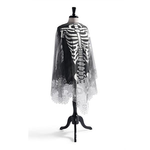 Halloween Haven Skeleton Poncho