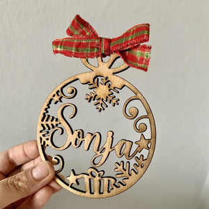 Custom Christmas Baubles With Name Personalized Christmas Ornament