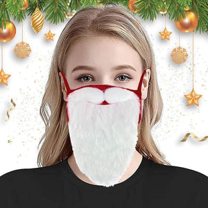 🔥HOT SALE🔥Holiday Santa Beard Face Mask Costume for Adults