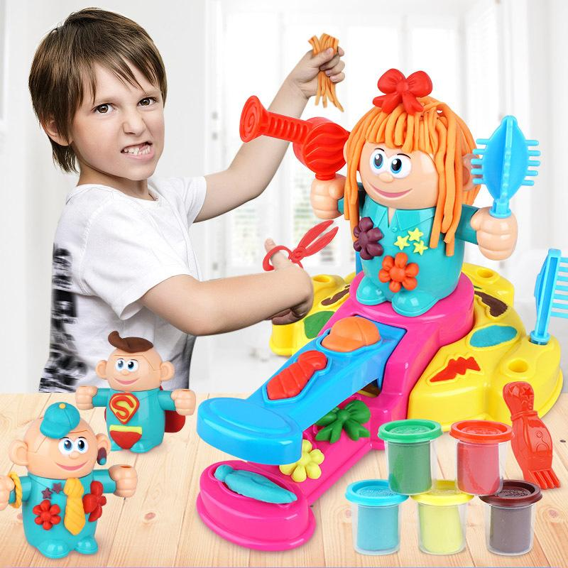 DIY hairdresser color clay children's toys