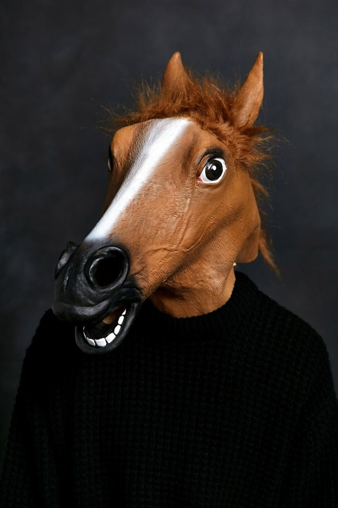 Realistic Cosplay Horse Mask