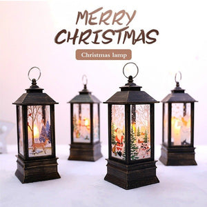 Santa Snowman Lights Merry Christmas Decoration