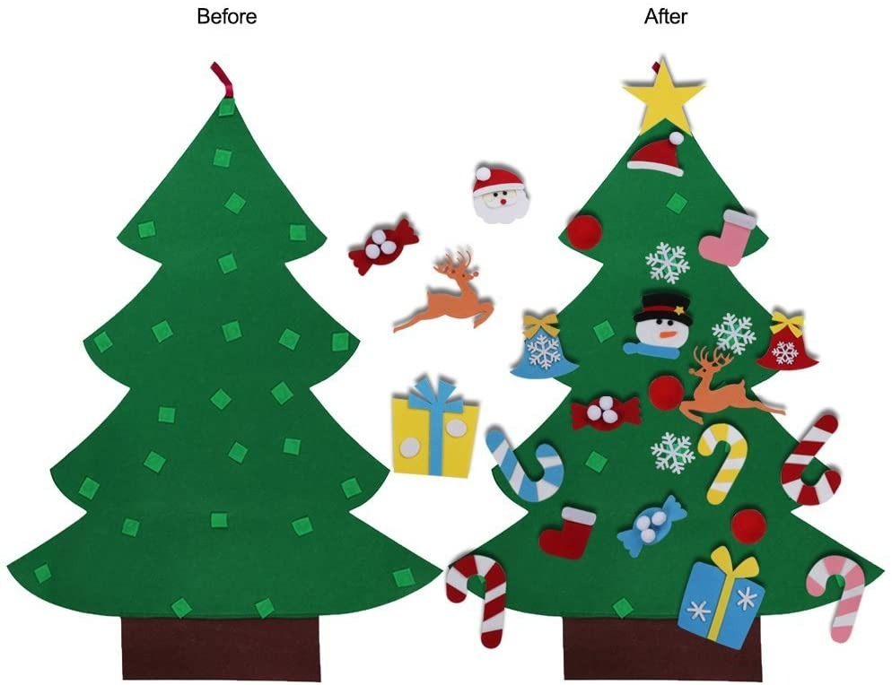 Kids DIY Felt Christmas Tree - 2020 New Arrival 35 PCS Ornaments