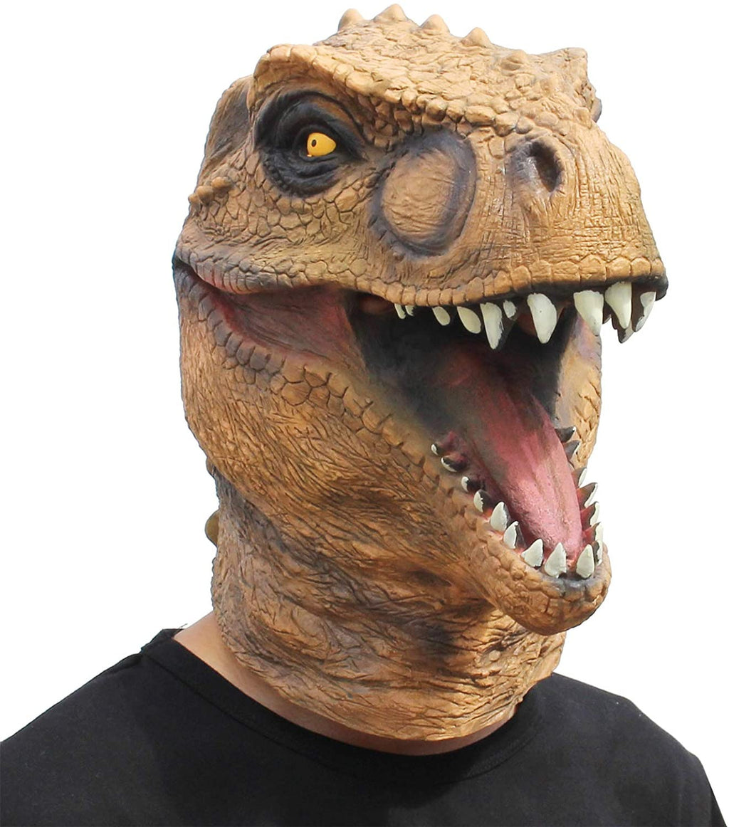 Creepy Jurassic T-rex Head Mask