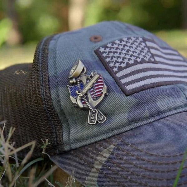 Navy Veteran Pin