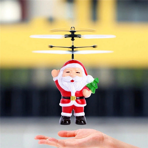Santa Flying Heliball