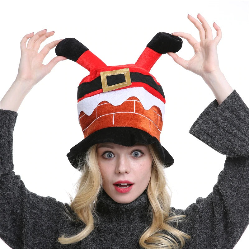 Christmas Cap Luxury National Santa Headwear Ornaments