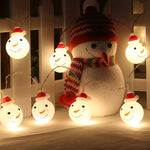 Christmas Snowman String Lights