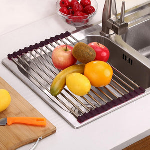 Roll-Up Sink Rack