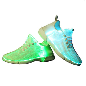 Glowing Led Fiber Optic Sneakers