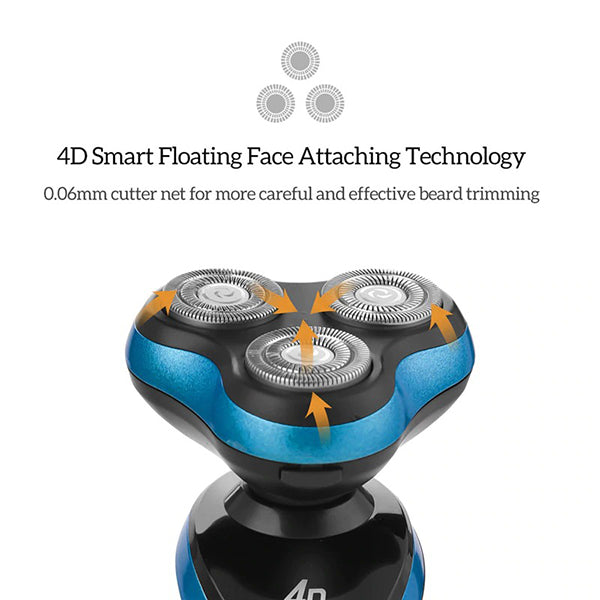 4D Floating Triple Head Electric Shaver