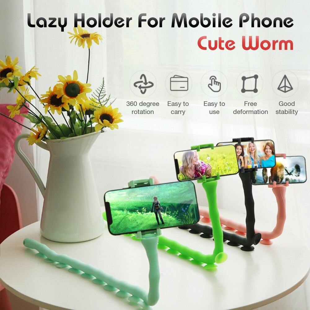 Phone Holder Multifunctional Cute Worm