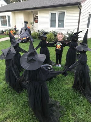 🔥🔥🔥Visiting Light-Up Witches With Stakes-Set Of 3