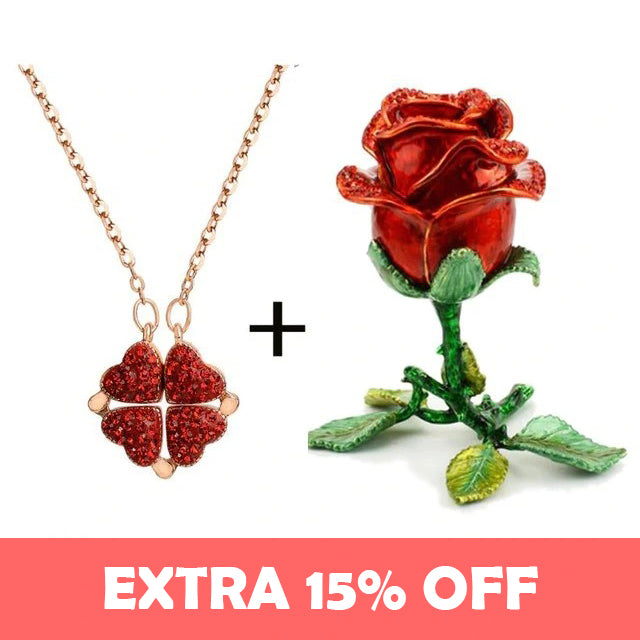 2-in-1 Clover/ Heart Necklace