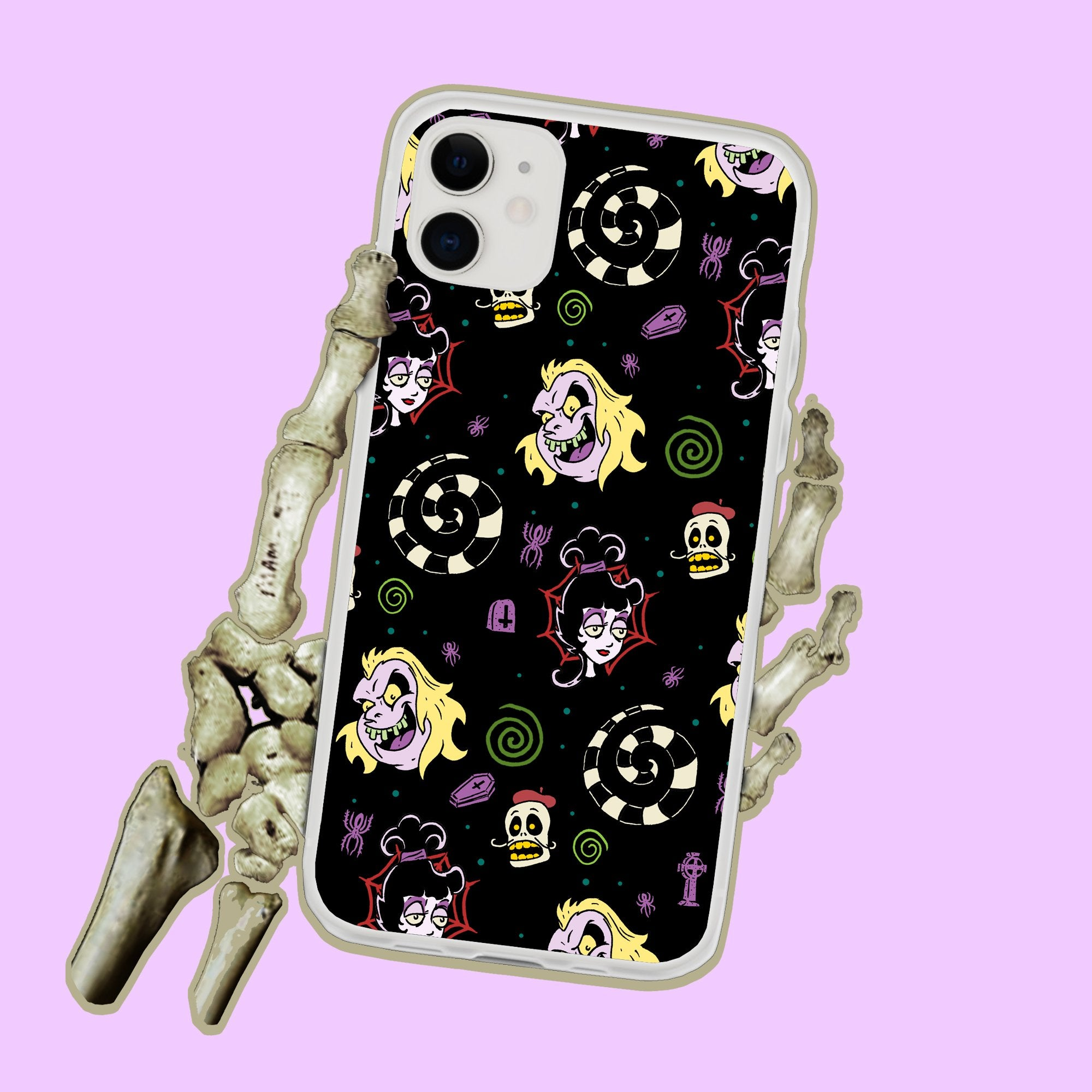 Beetlejuice And Lydia Deetz Iphone Case