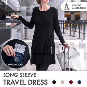 Cozy Sweatshirt Travel Dress