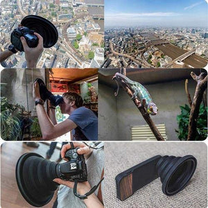 CAMERA LENS HOOD FOR CANON, NIKON, PROFESSIONAL CAMCORDERS