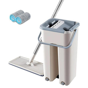 Free Hand Washing Flat Mop with Bucket