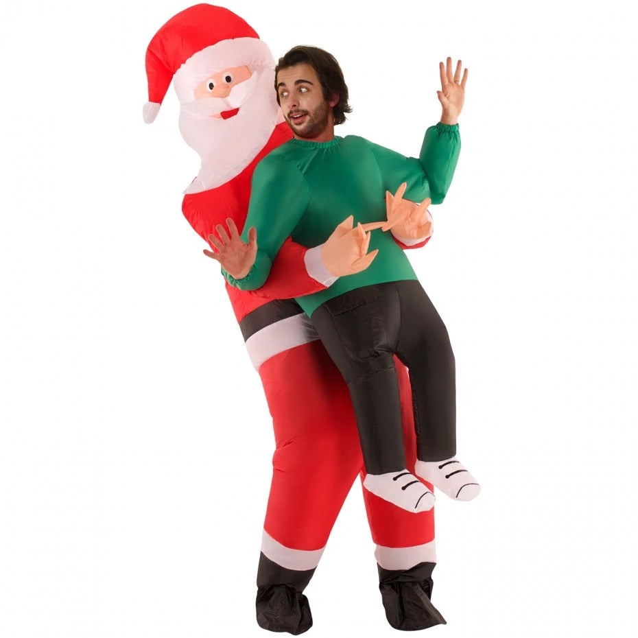 CHRISTMAS PROMOTION - Santa Claus Carrying Human Costume