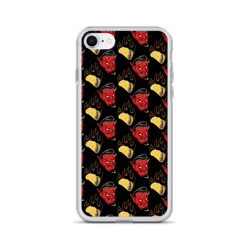 Satan Burning Hell Tacos Iphone Case