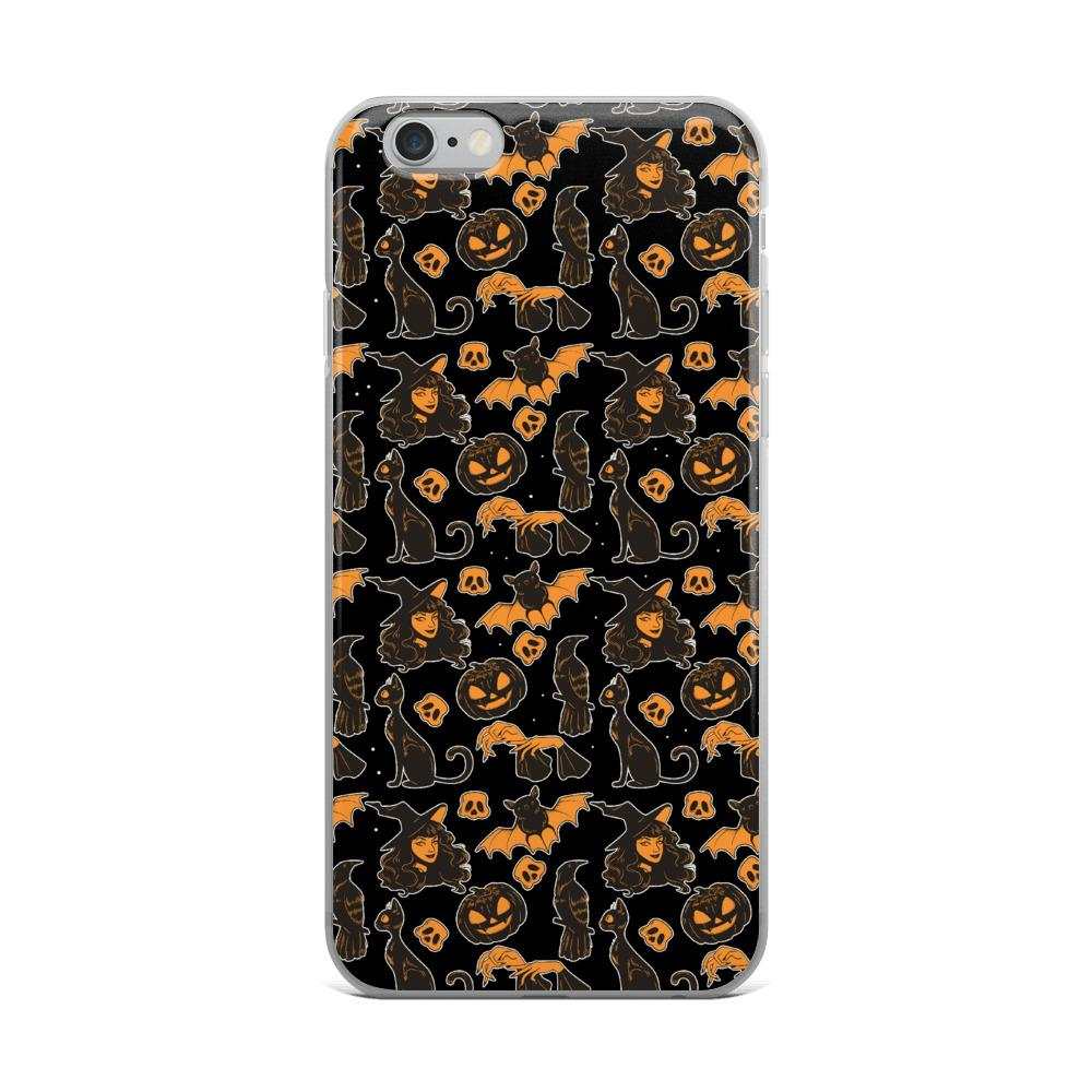 Halloween Witches And Cats Iphone Case