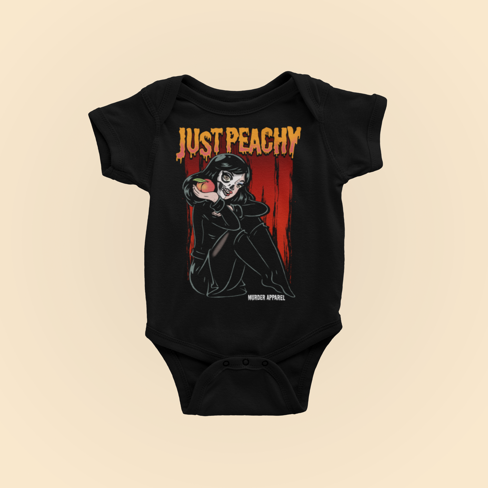 Just Peachy Gothic Baby Bodysuit
