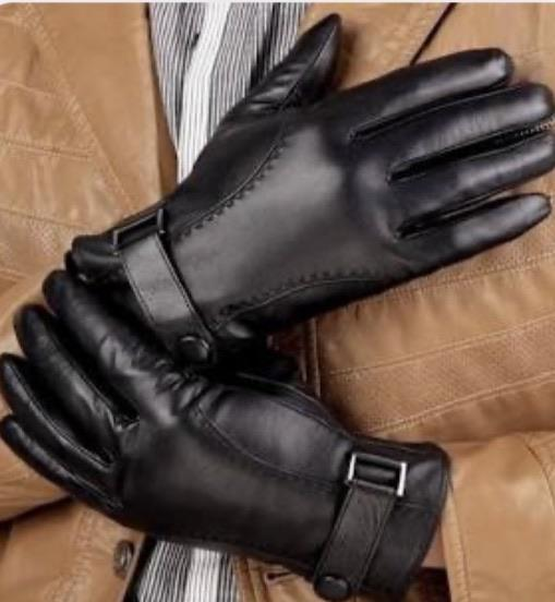 Plague Doctor Touchscreen Leather Gloves