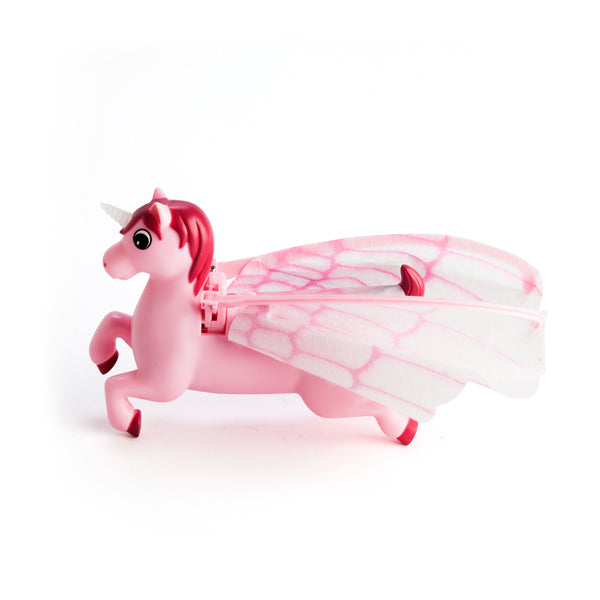 Flying Unicorn Watch as your unicorn gracefully flutters around your room with her sparkling pink wings and beautiful light up horn.