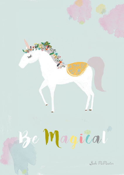 Suki McMaster Be Magical Unicorn print