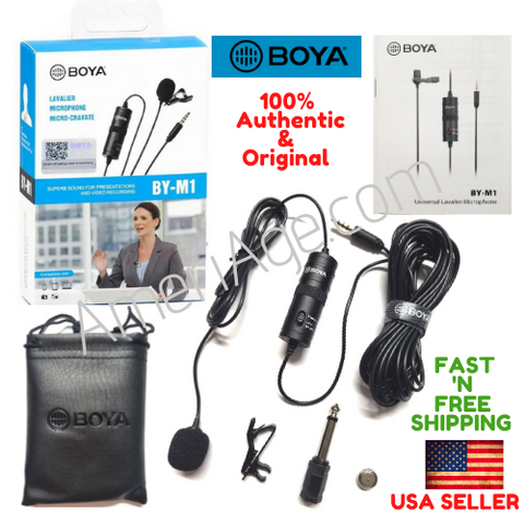 BOYA BY-M1 Omni Lavalier Microphone,for SmartPhone, DSLR, PC, Cameras