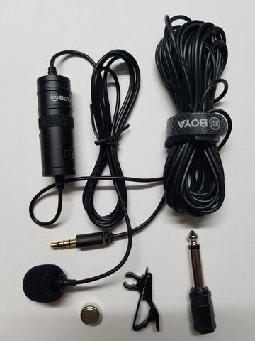 BOYA BY-M1 Lavalier Microphone,for Smart Phone, DSLR, PC, Cameras
