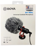BOYA BY-MM1 Cardioid Condenser Shotgun Microphone for Smartphone Canon Nikon DSLR