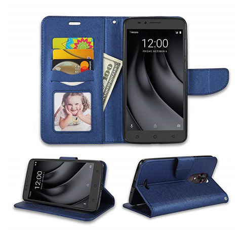 REVVL Plus (T-Mobile) Flip Wallet Case Cover w/Card Storage slot