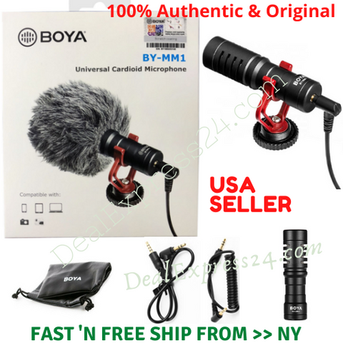 BOYA BY-MM1 Cardioid Condenser Shotgun Microphone for Nikon Canon DSLR Phones