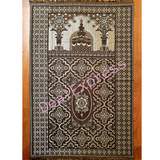 Muslim Travel Mat, Islamic Prayer Rug janamaz Turkish Sajda Mat Best Quality-GRAY
