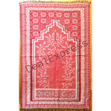 Muslim Travel Mat, Islamic Prayer Rug janamaz Turkish Sajda Mat Best Quality-RED