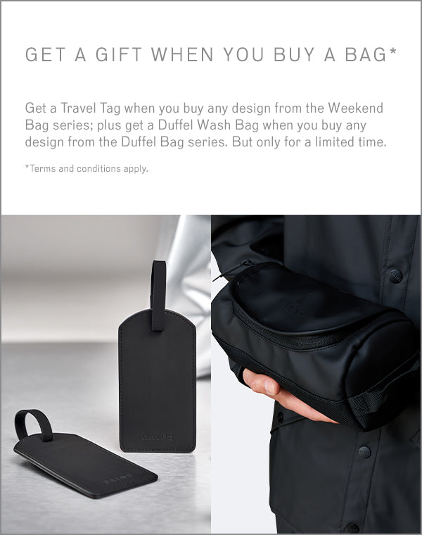 Get a gift when you buy a travel bag