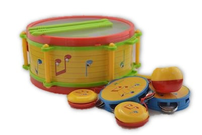 Drum set with lots of musical instruments - Learning steps