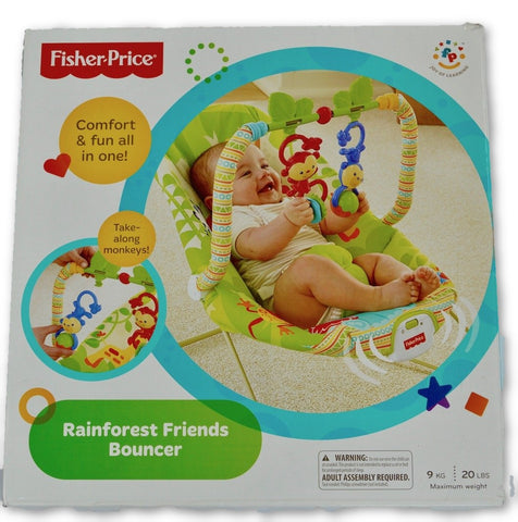 Fisher Price rainforest bouncer - Learning steps