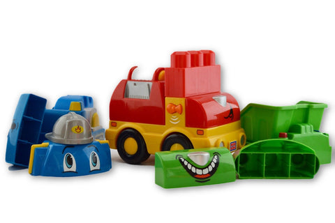 Mega blocks interchangeable trucks 10pcs - Learning steps