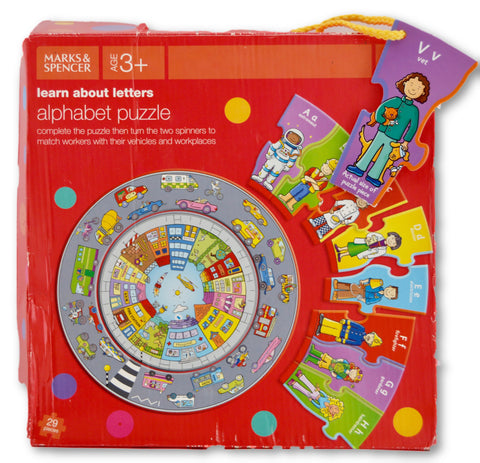 Alphabet puzzle by M&S - Learning steps