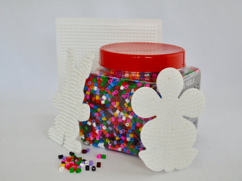 Hamma Beads jar with 3 boards (New) - Learning steps